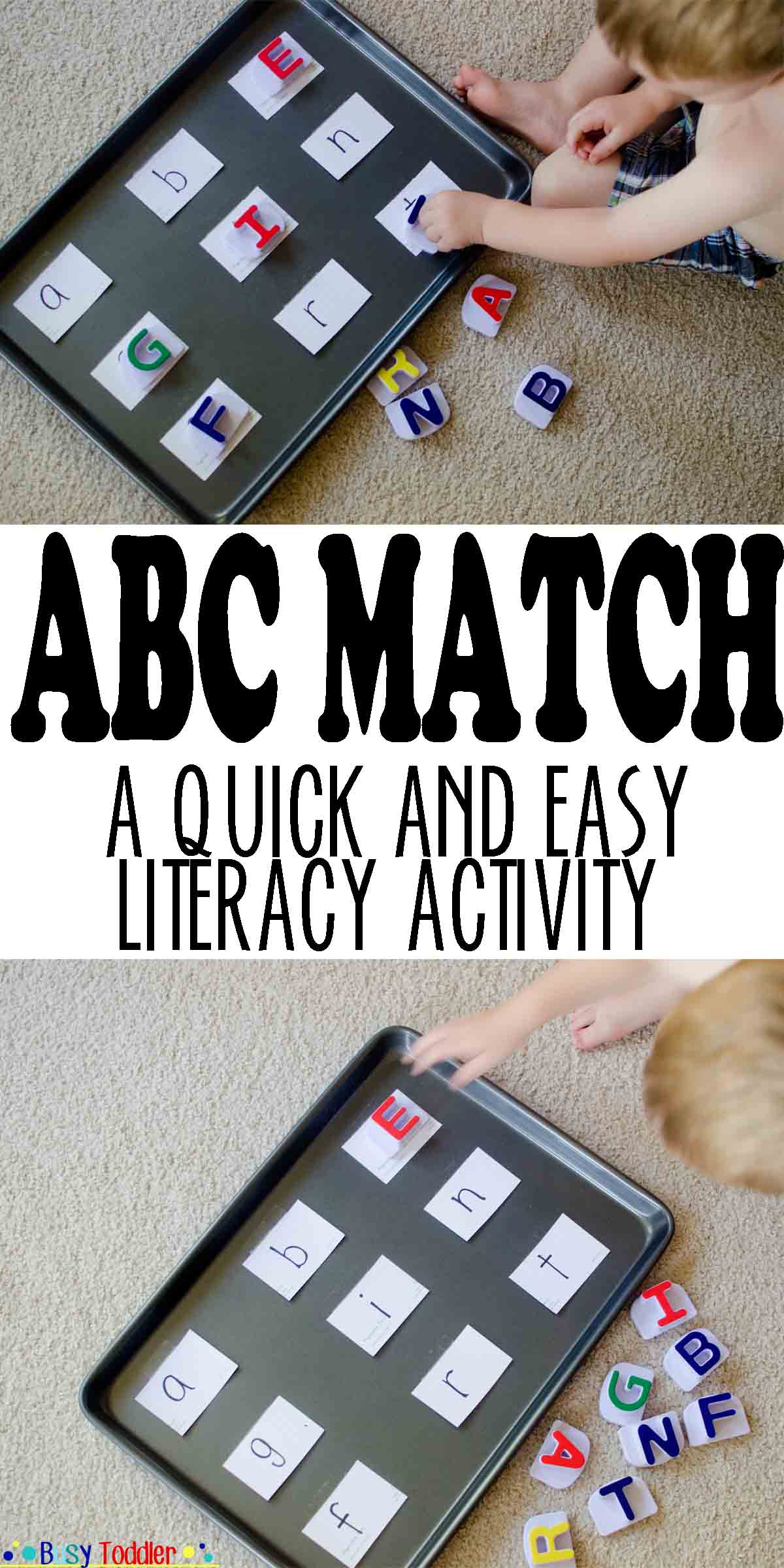ABC Match: a quick and easy literacy activity