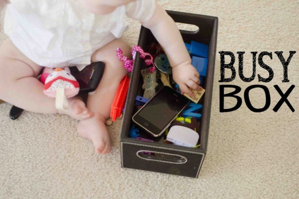 Busy box: a seriously easy way to entertain a baby