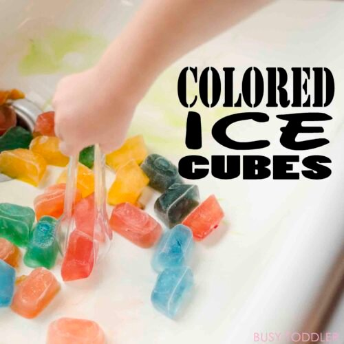 colored ice cubs