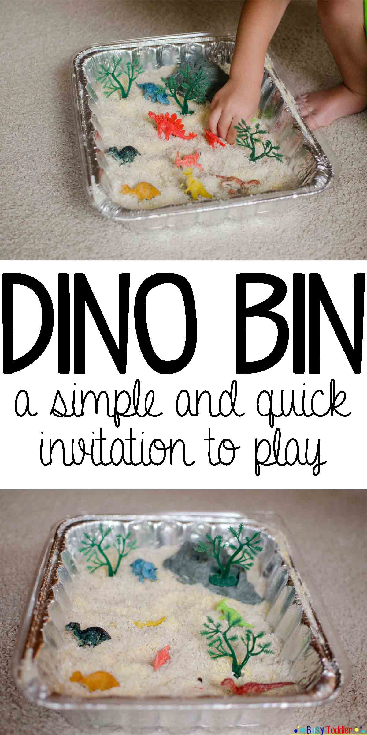 DINO BIN: an simple invitation to play