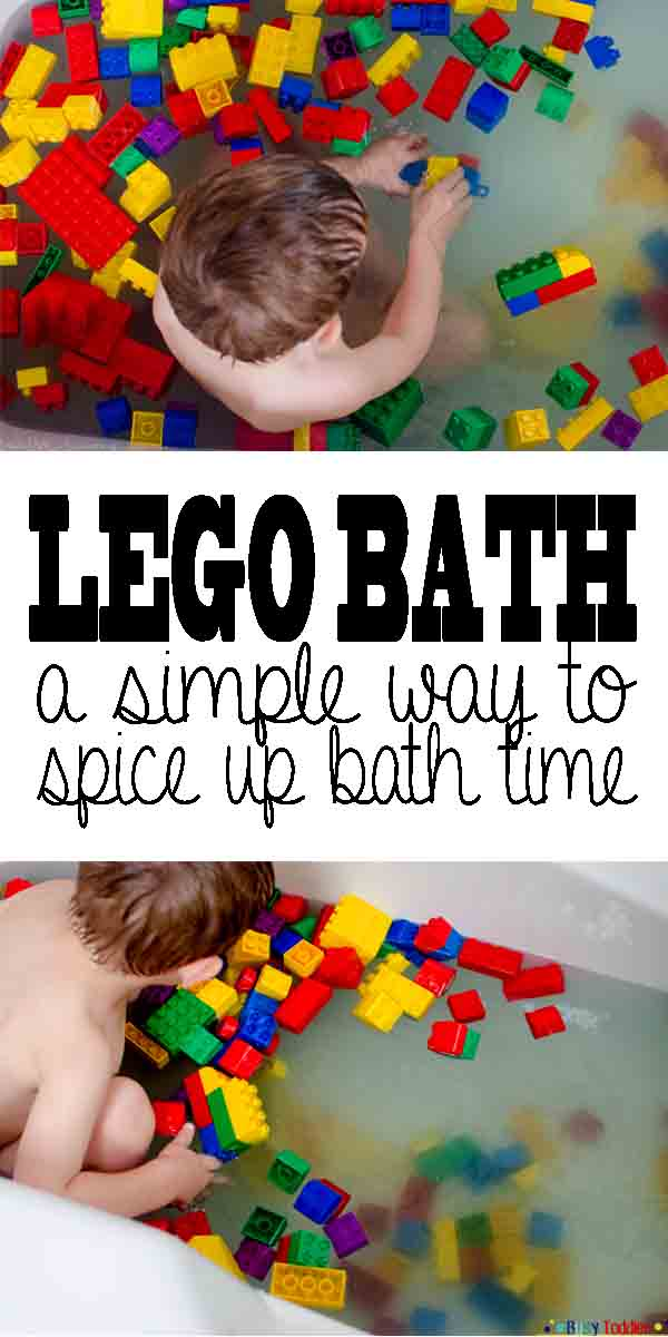 LEGO BATH: Toddler bath time activity fun