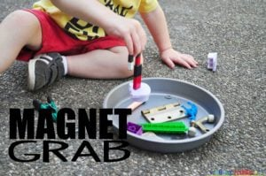 A quick and easy science activity for toddlers.