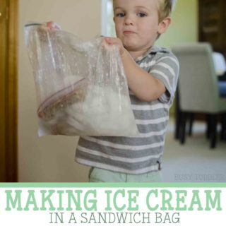 Making Ice Cream in a Sandwich Bag