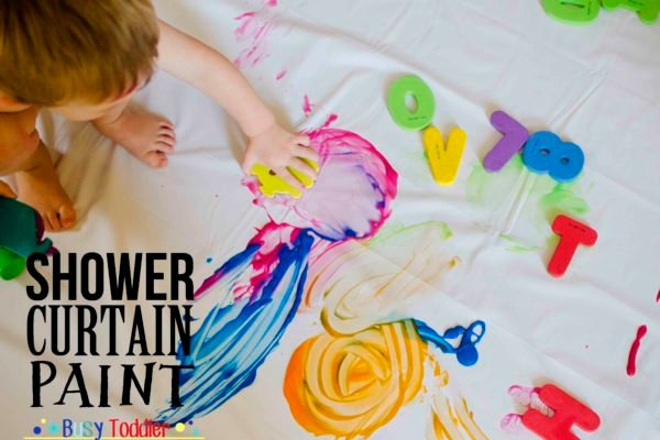 Shower Curtain Paint: An easy way to paint