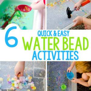 WATER BEAD ACTIVITIES: Loving these quick and easy water bead activities! Activities for water beads that toddlers and preschoolers will love. Easy activities from Busy Toddler