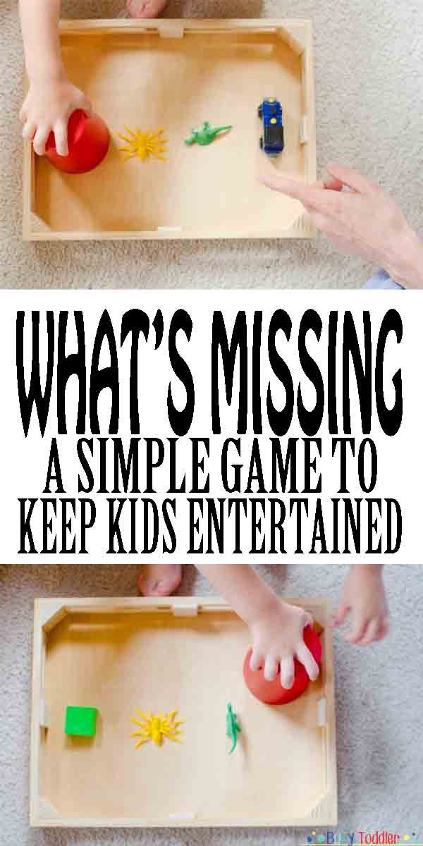 What's Missing: A simple, no-prep toddler activity