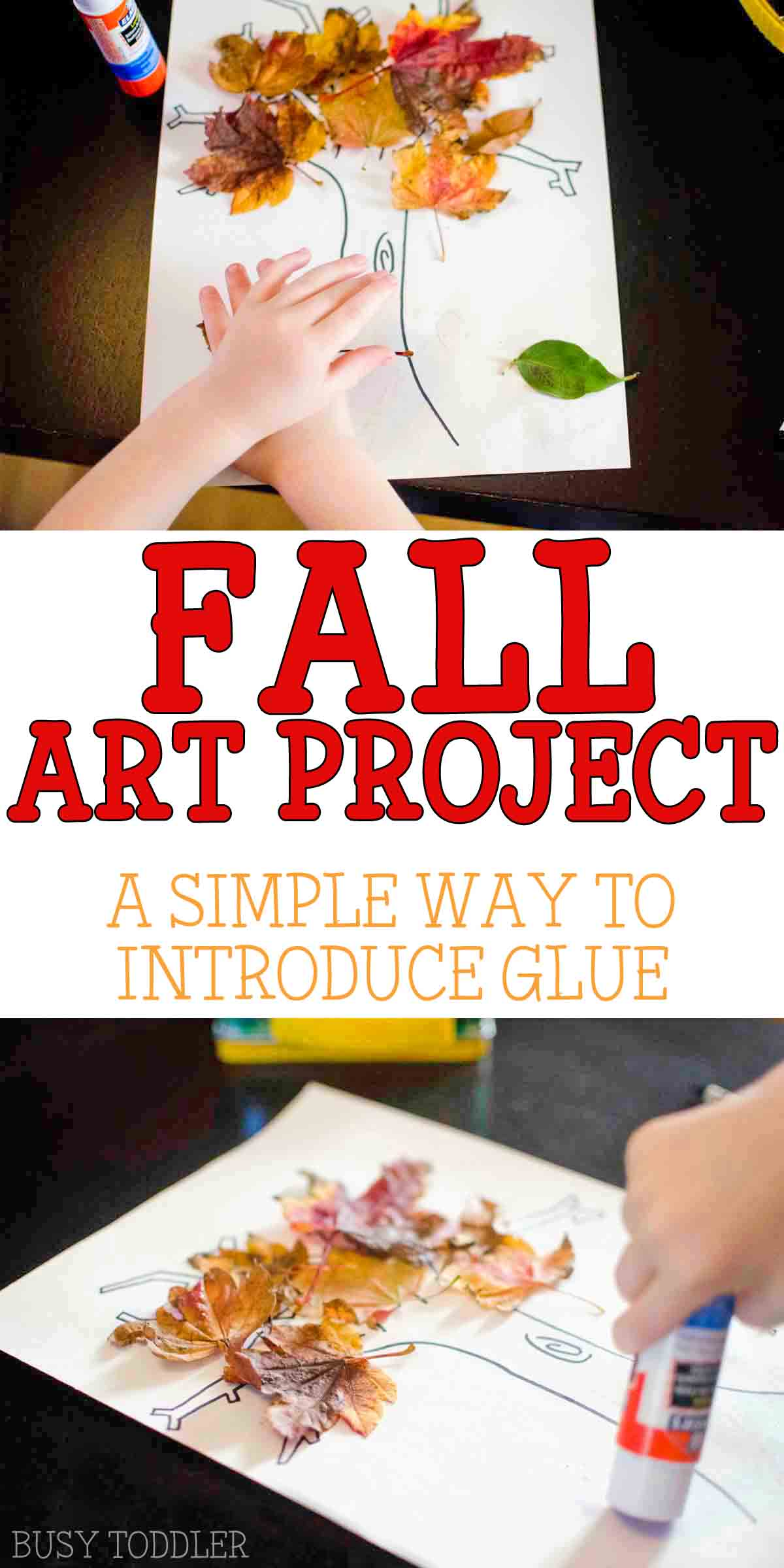 FALL LEAF CRAFT: A simple toddler fall activity; a fun way to introduce gluing; a quick fall art project