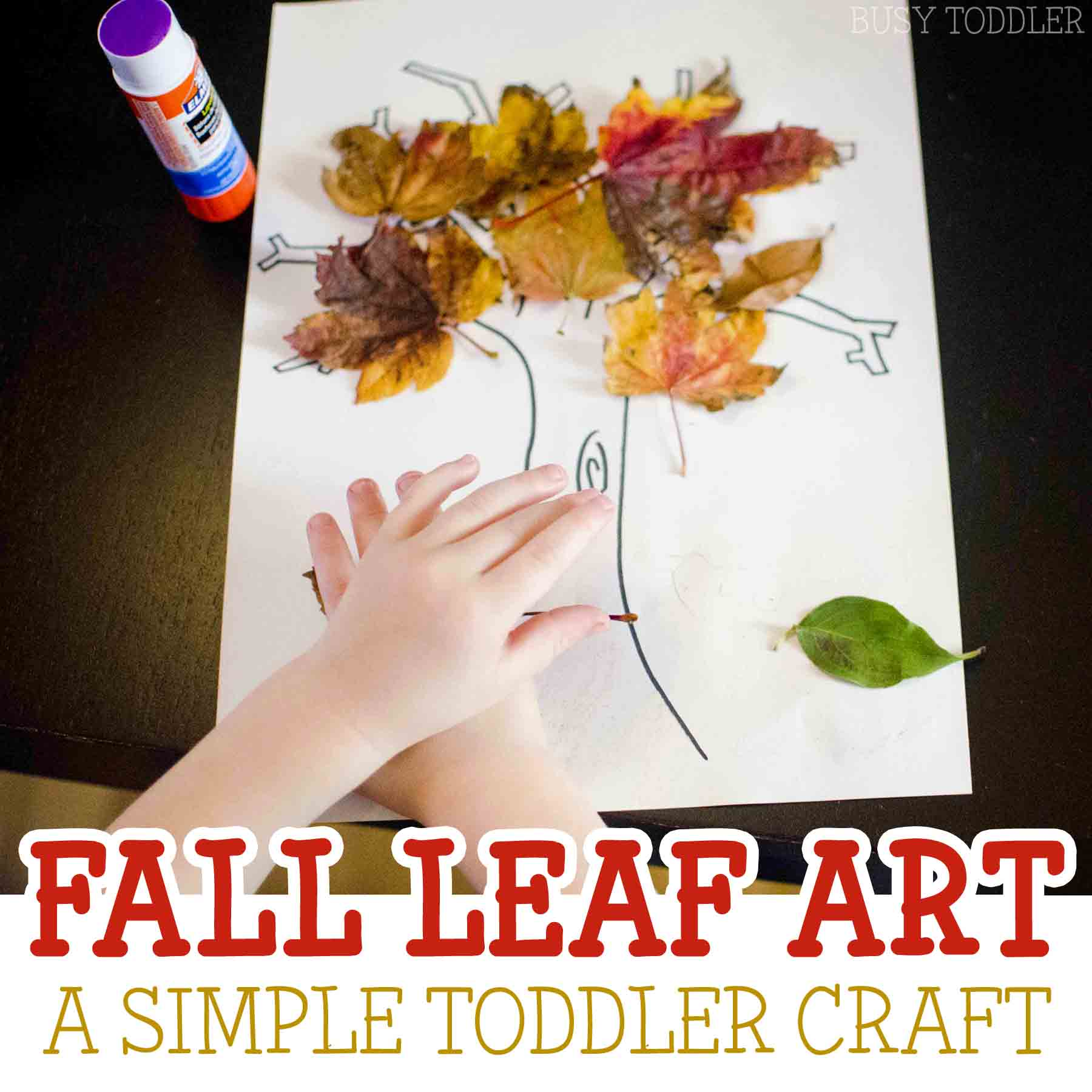 Fall Leaf Craft Busy Toddler