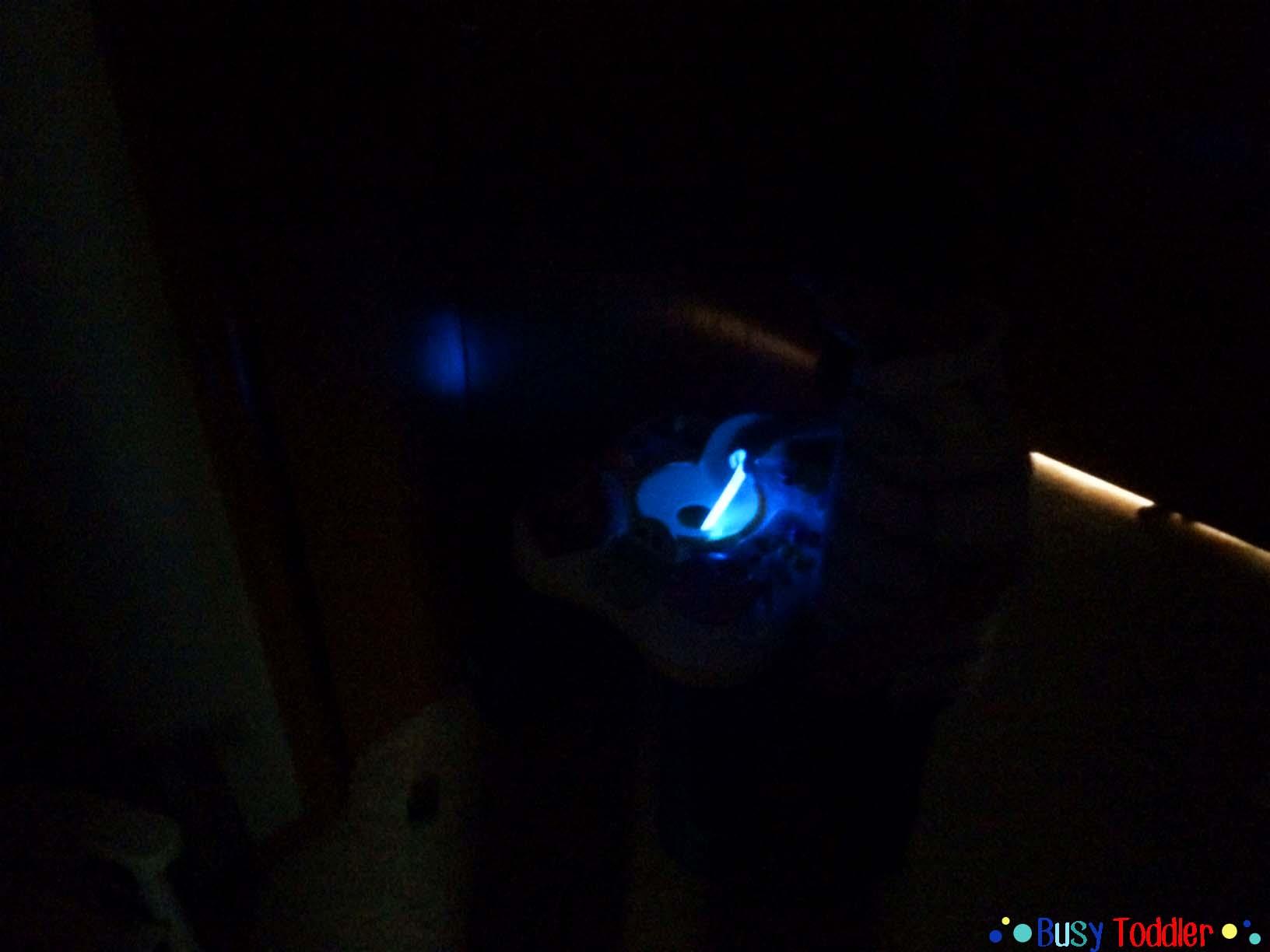 Glow Stick Hide and Seek: a fun, spooky halloween activity