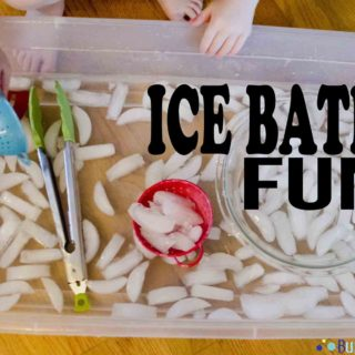 Ice Bath Fun Sensory Activity