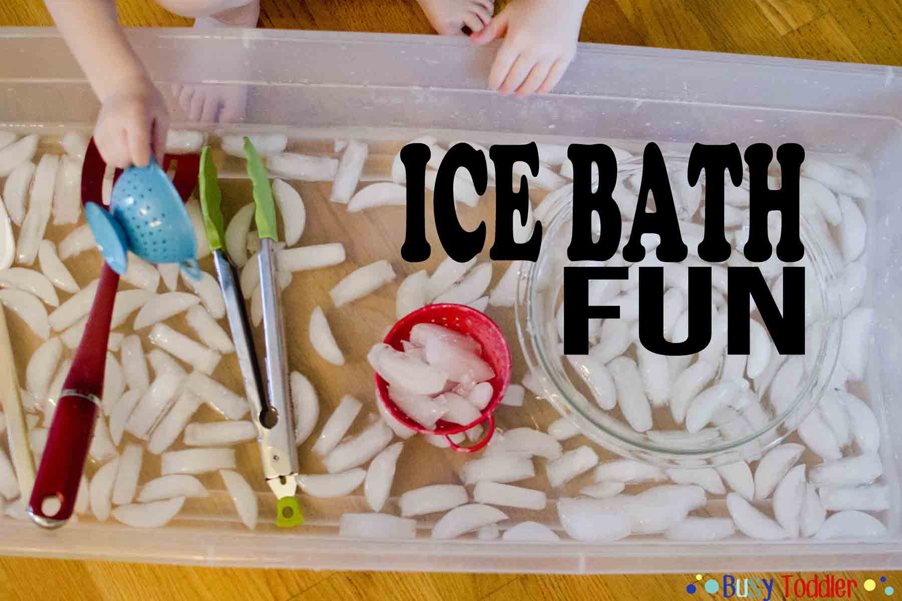 Ice Bath Fun Sensory Activity