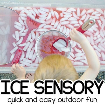 Ice Sensory Bin Activity for Toddlers
