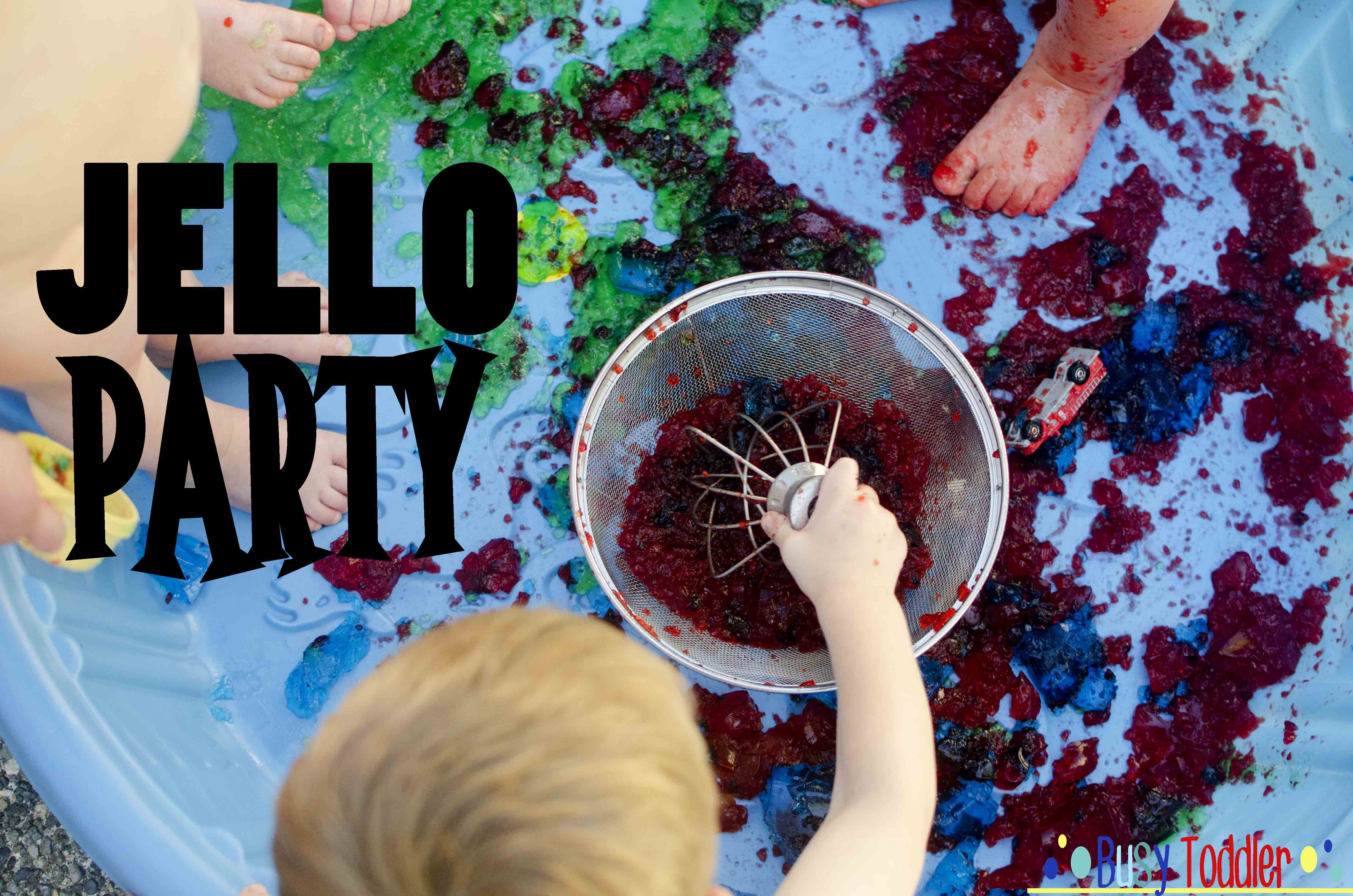 Jello Party: A classy toddler activity