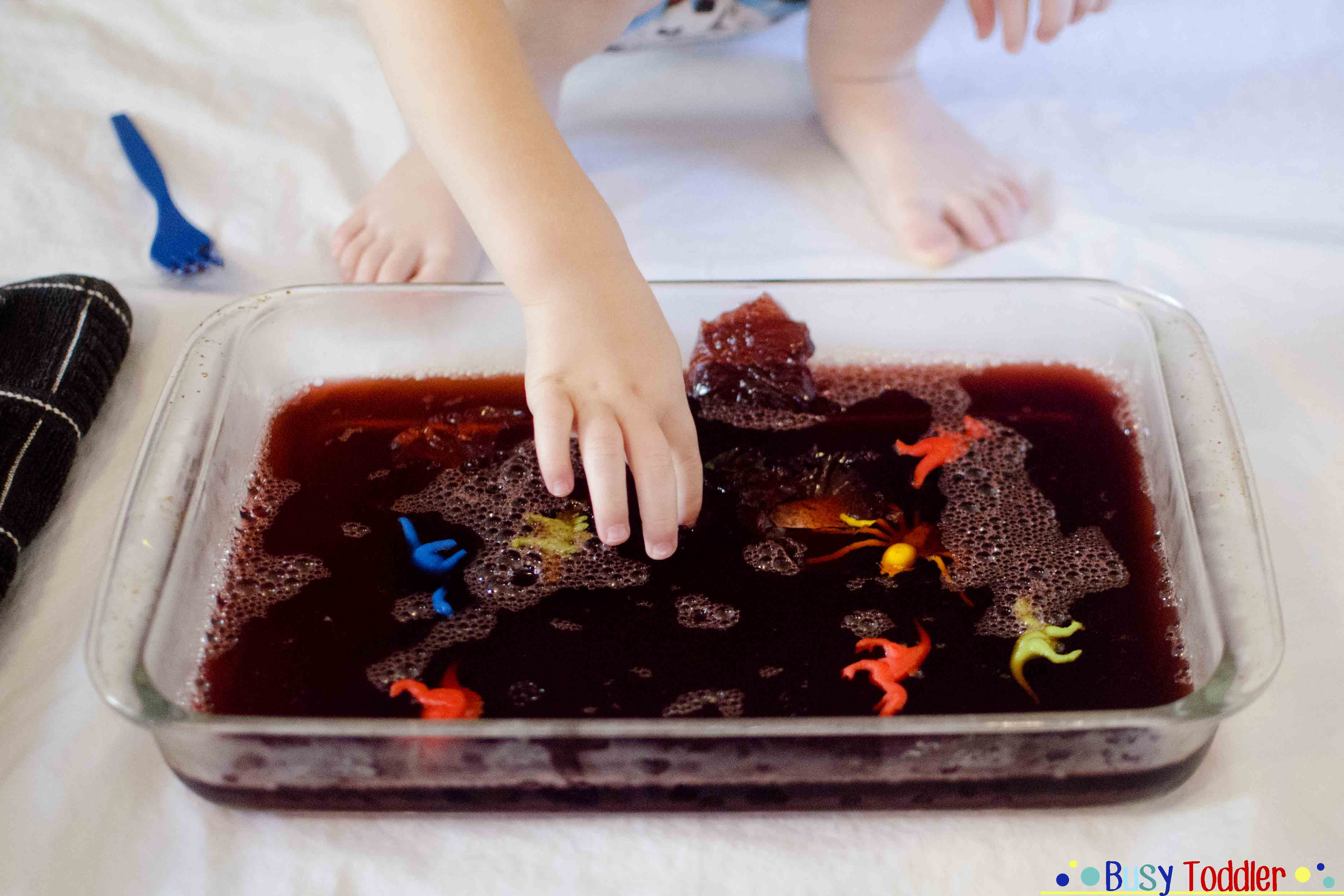 jello dig: a sticky and delicious toddler activity