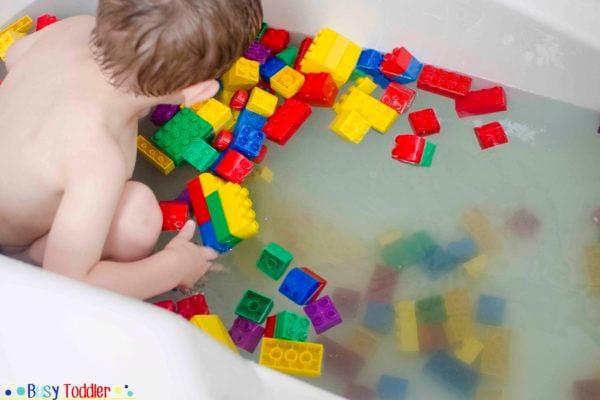 LEGO BATH: Toddler bath time activity fun