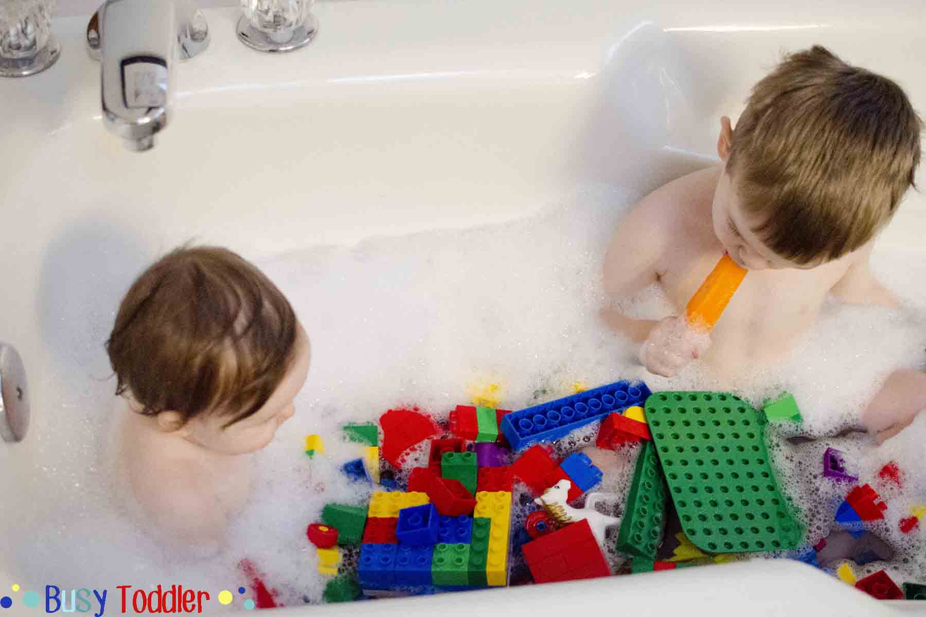LEGO BATH: A toddler bath time activity