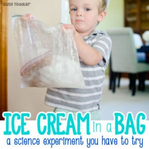 MAKING ICE CREAM: Make ice cream in a sandwich bag; a great indoor activity; easy science lesson for toddlers