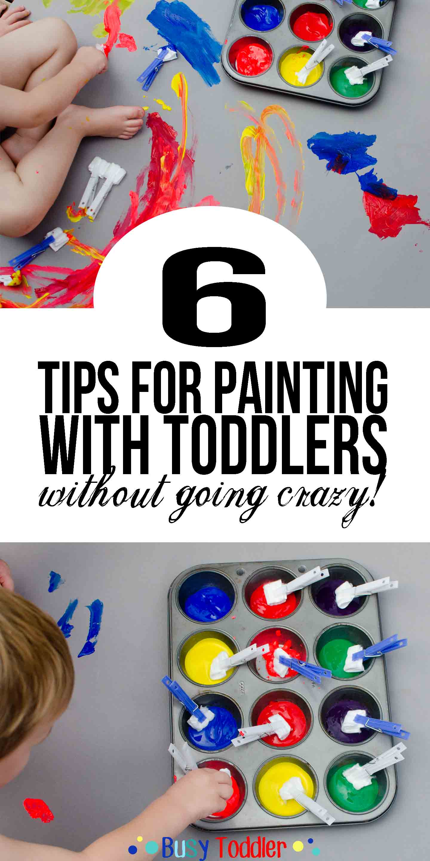 painting with toddler: 6 tips for a successful activity