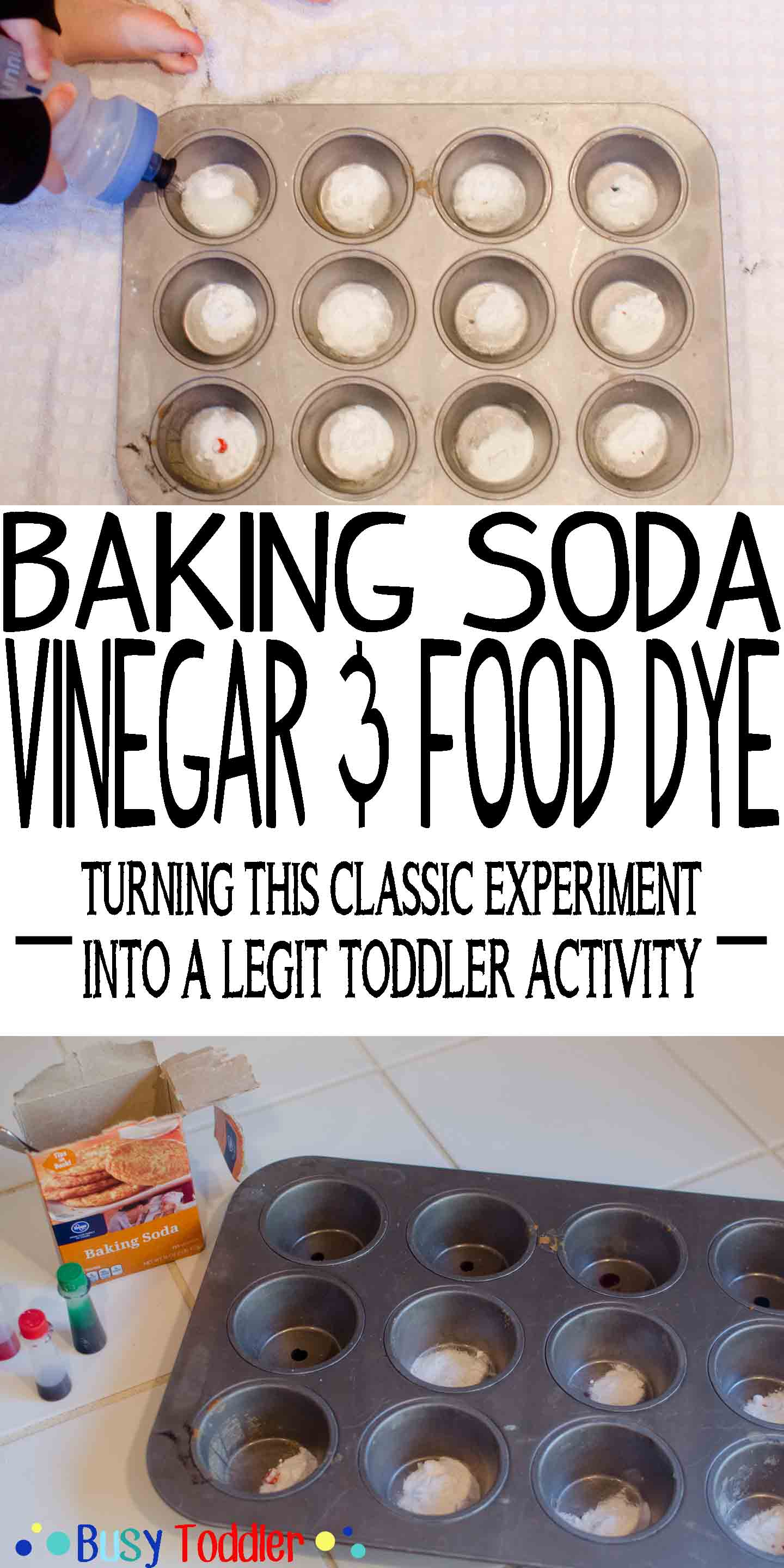 Fizzy Fun: turning this classic experiment into a toddler activity