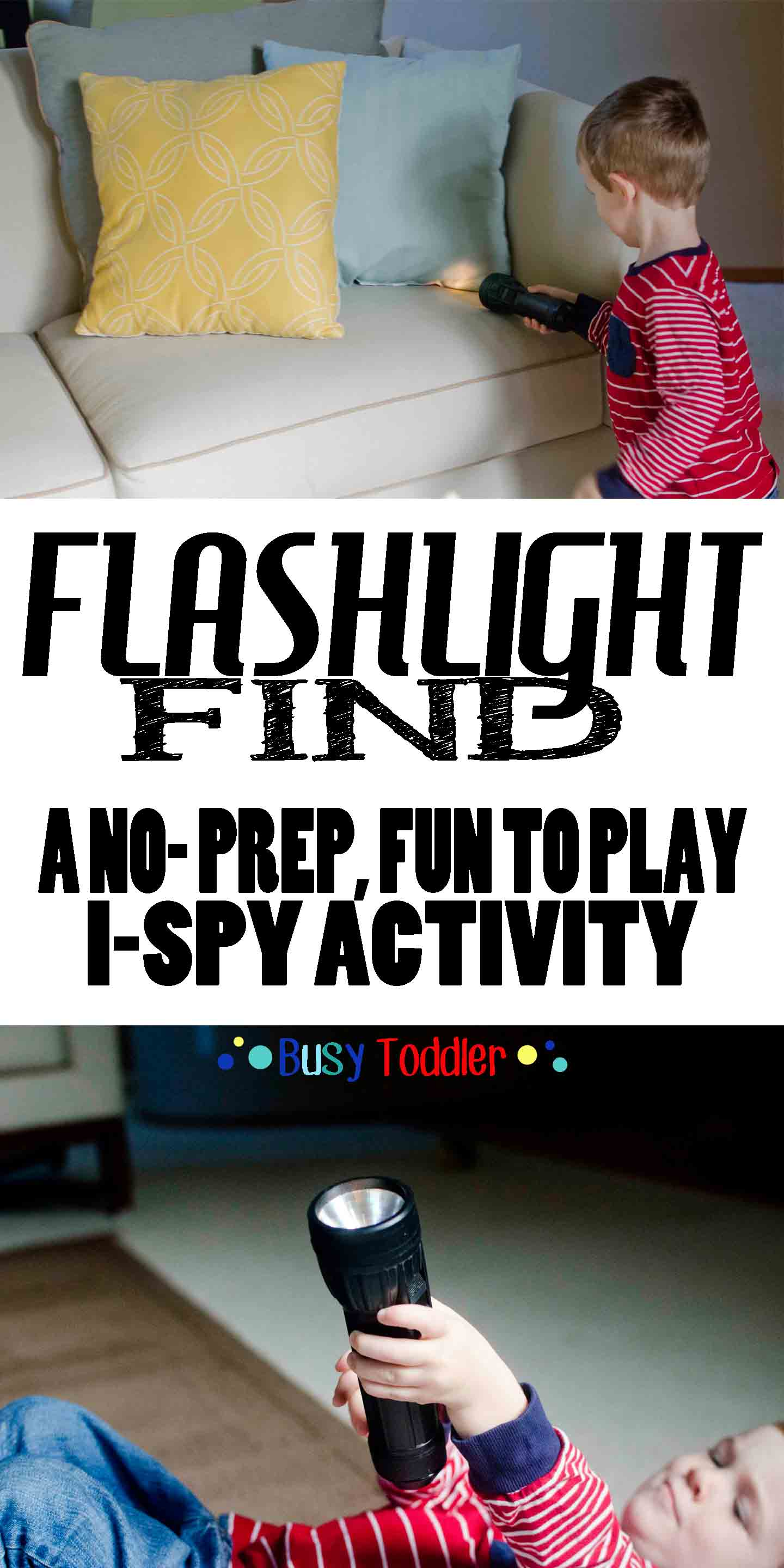 Flashlight Find: a no-prep, funto play I-spy activity