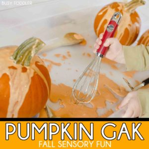 PUMPKIN GAK: a fun fall sensory activity; easy toddler activity
