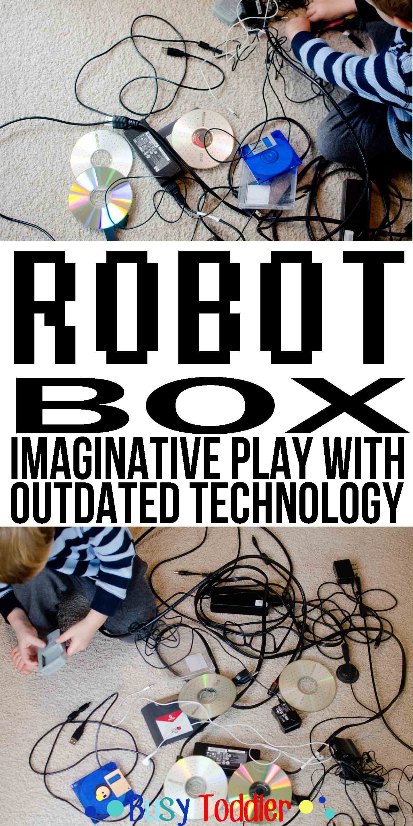 Robot Box: imaginative play with outdated technology