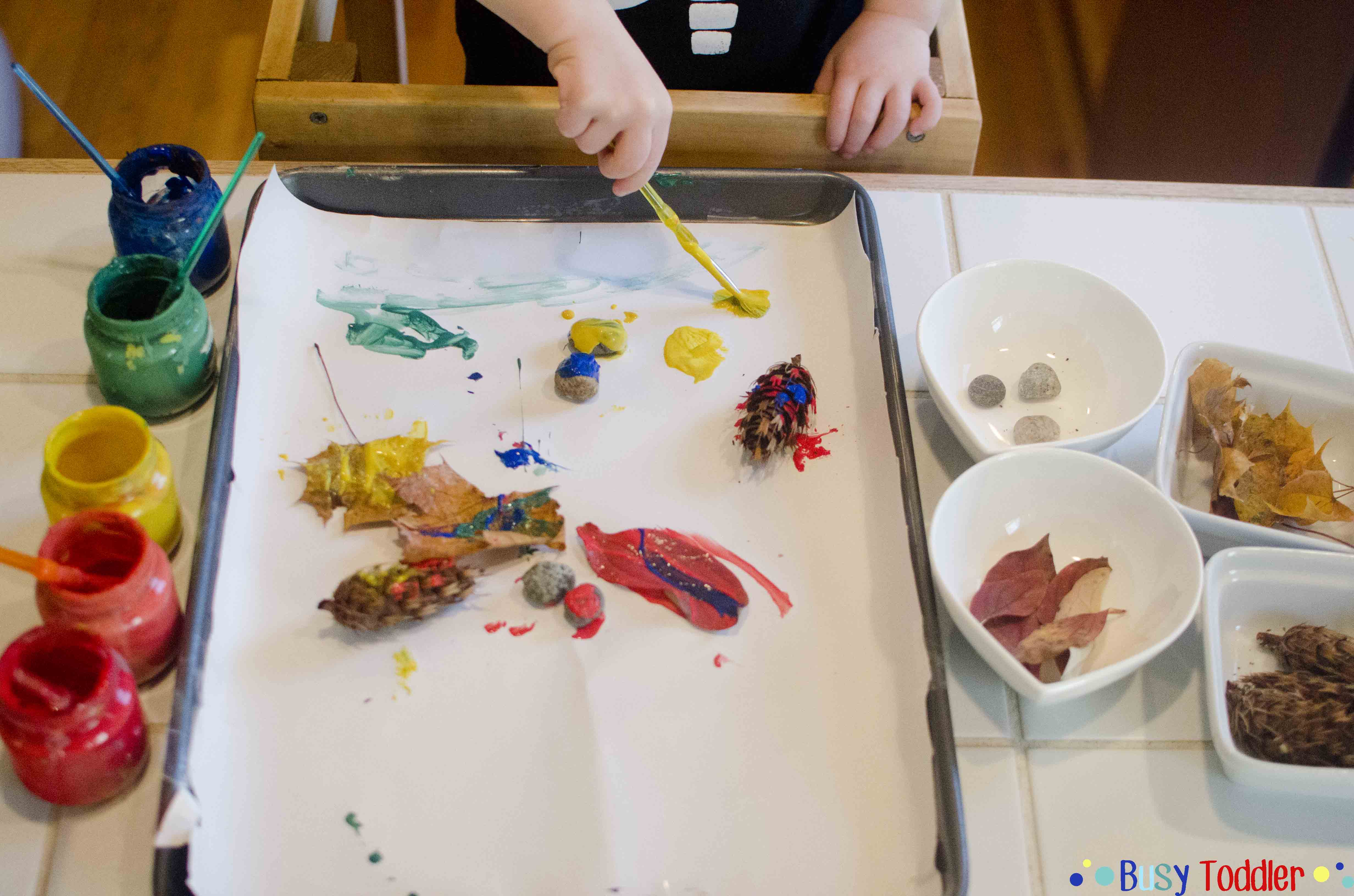 Fall Sort & Paint: A two part activity for toddlers