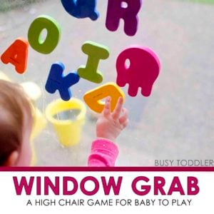 WINDOW GRAB: An easy baby activity; fun play for baby