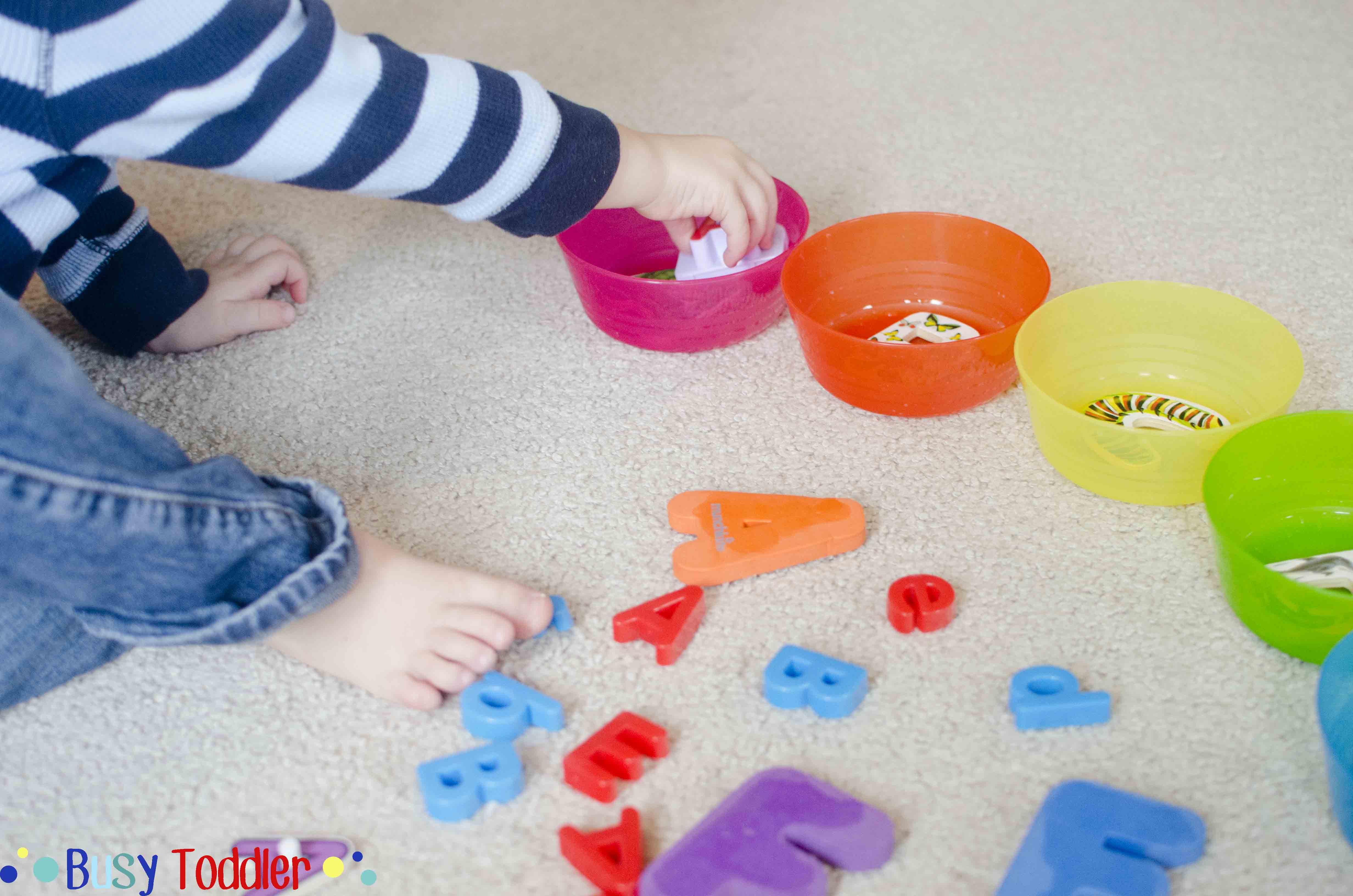 ABC SORT: An alphabet activity for toddlers and preschoolers