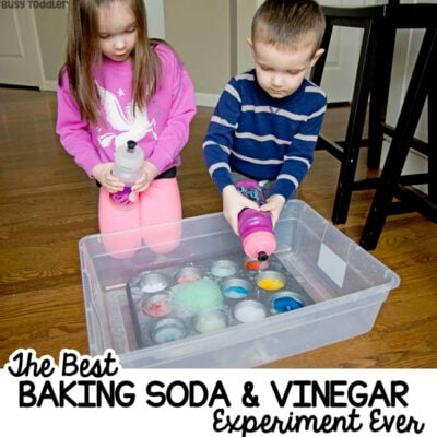 A TODDLER SCIENCE EXPERIMENT: A quick and easy science activity for toddlers and preschoolers. An easy indoor activity that's perfect on a rainy day from Busy Toddler