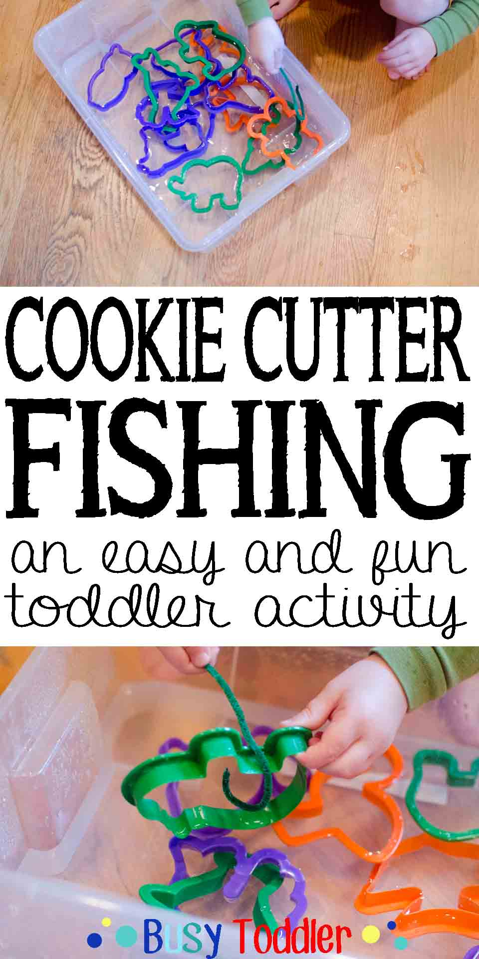 Cookie Cutter Fishing: an easy and fun toddler activity