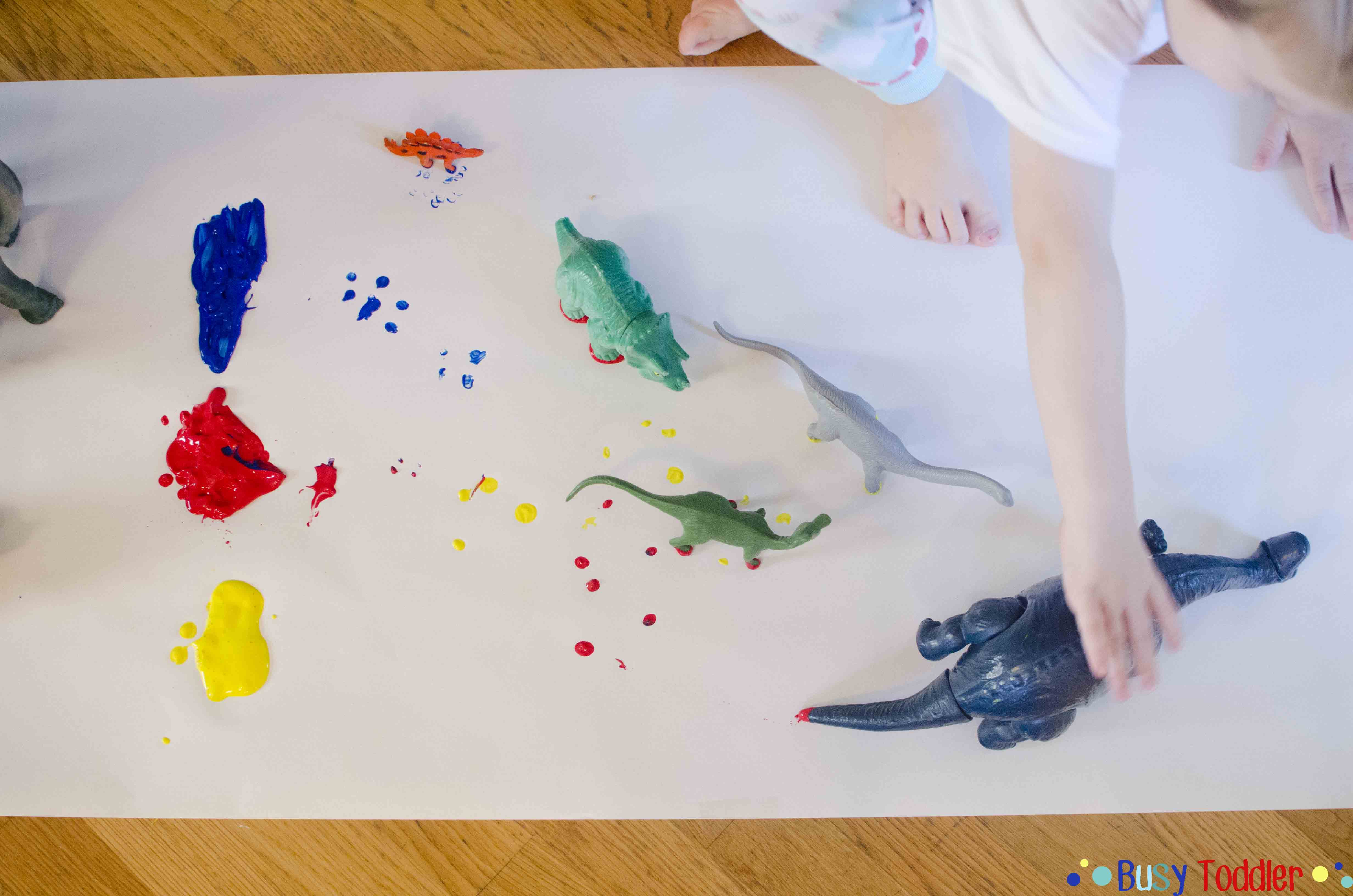 Dino Paint: A silly way to paint with toddlers