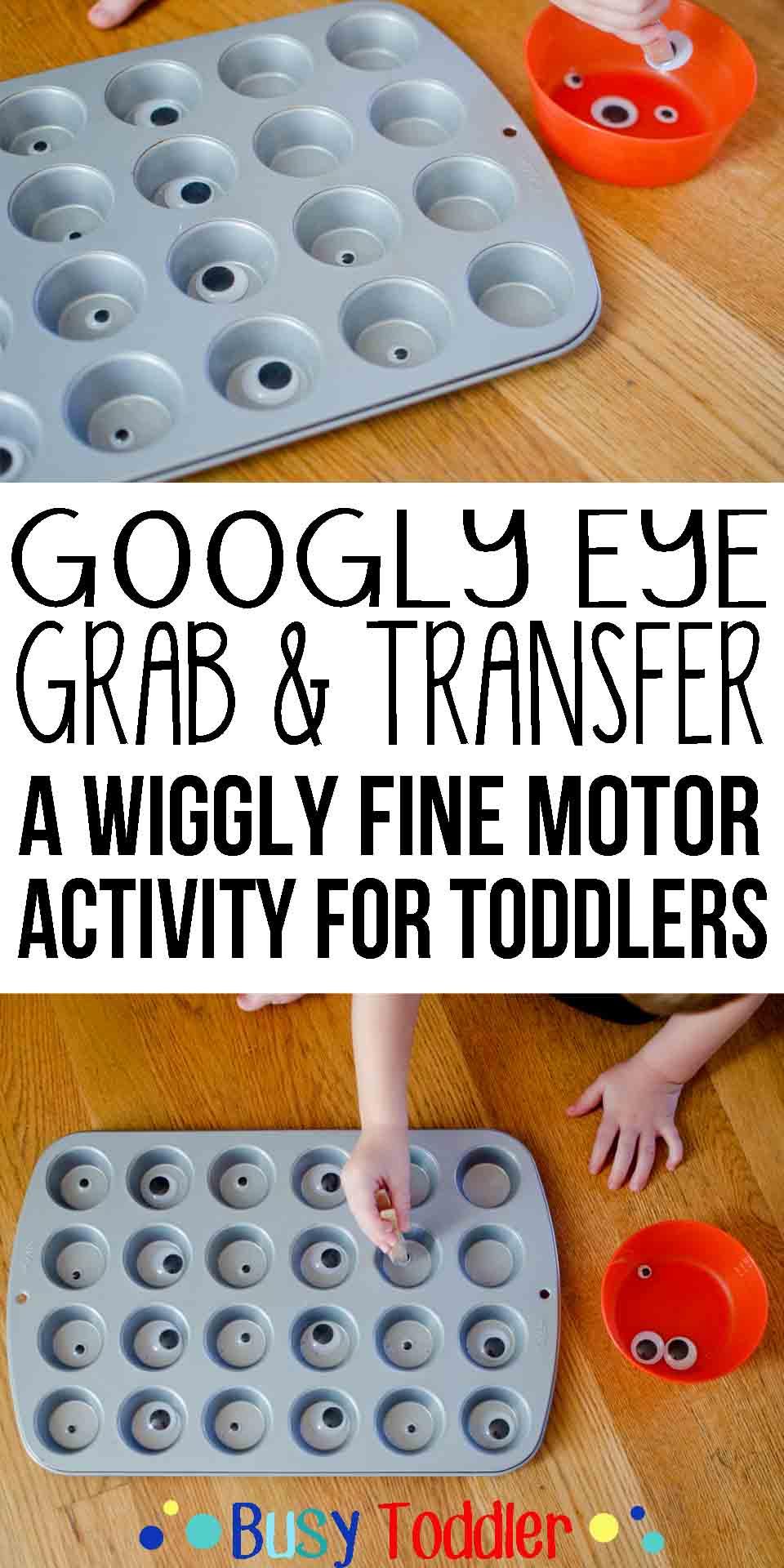 Googly Eye Grab: a wiggly fine motor skills activity