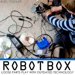 ROBOT BOX - LOOSE PARTS PLAY WITH OUTDATED TECHNOLOGY