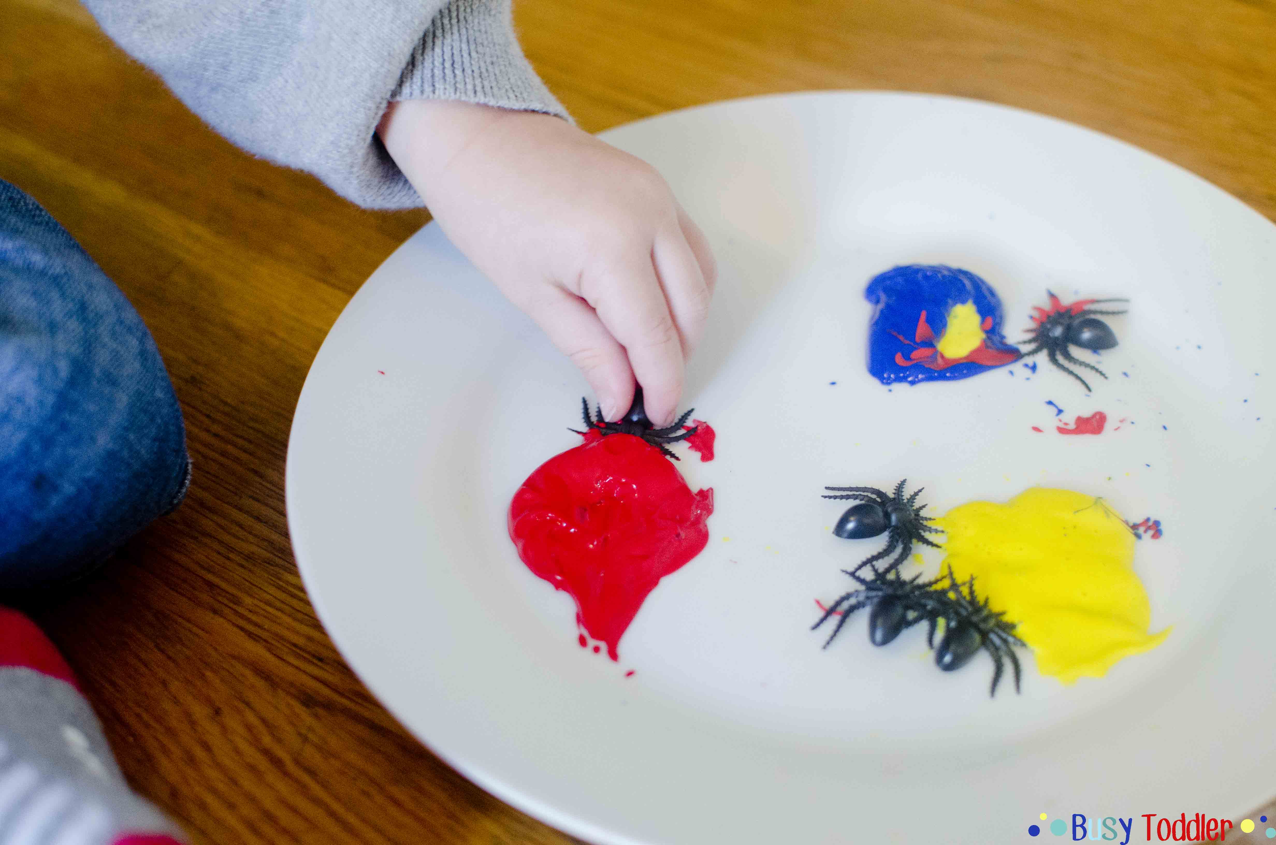 SPIDER PAINT: A silly way to play and paint