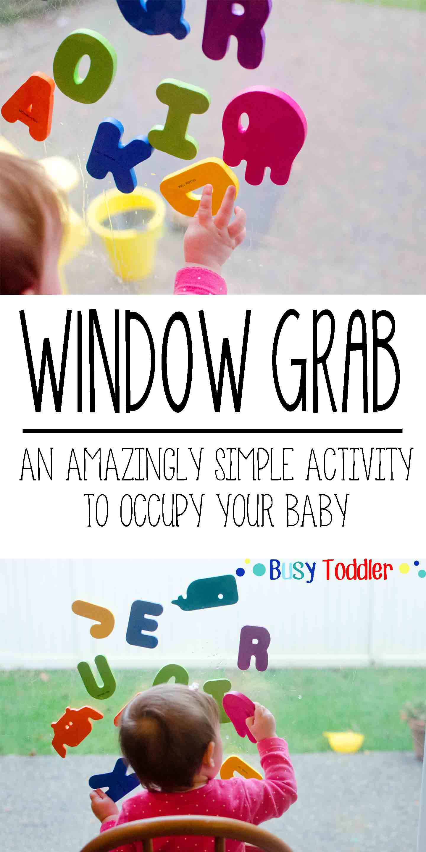Window Grab: an amazingly simple activity to occupy your baby