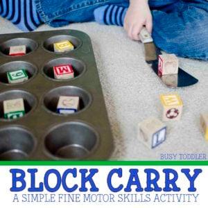 Block Carry: A Simple Indoor Activity