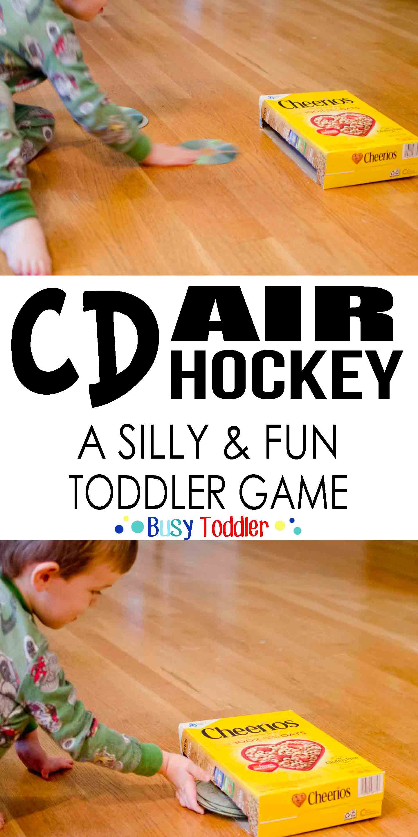 CD Air Hockey: A silly and fun toddler game.