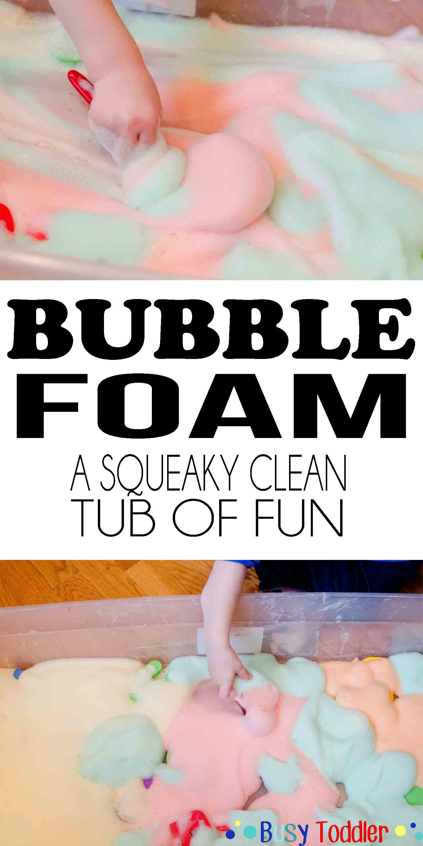 Bubble Foam: a squeaky clean toddler activity