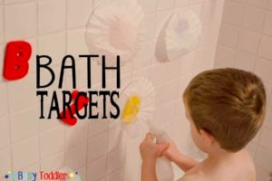 BATH TARGETS: a bath tub activity that's just silly fun