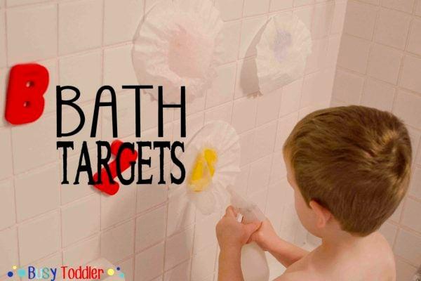 BATH TARGETS: a bath tub activity that's just silly fun