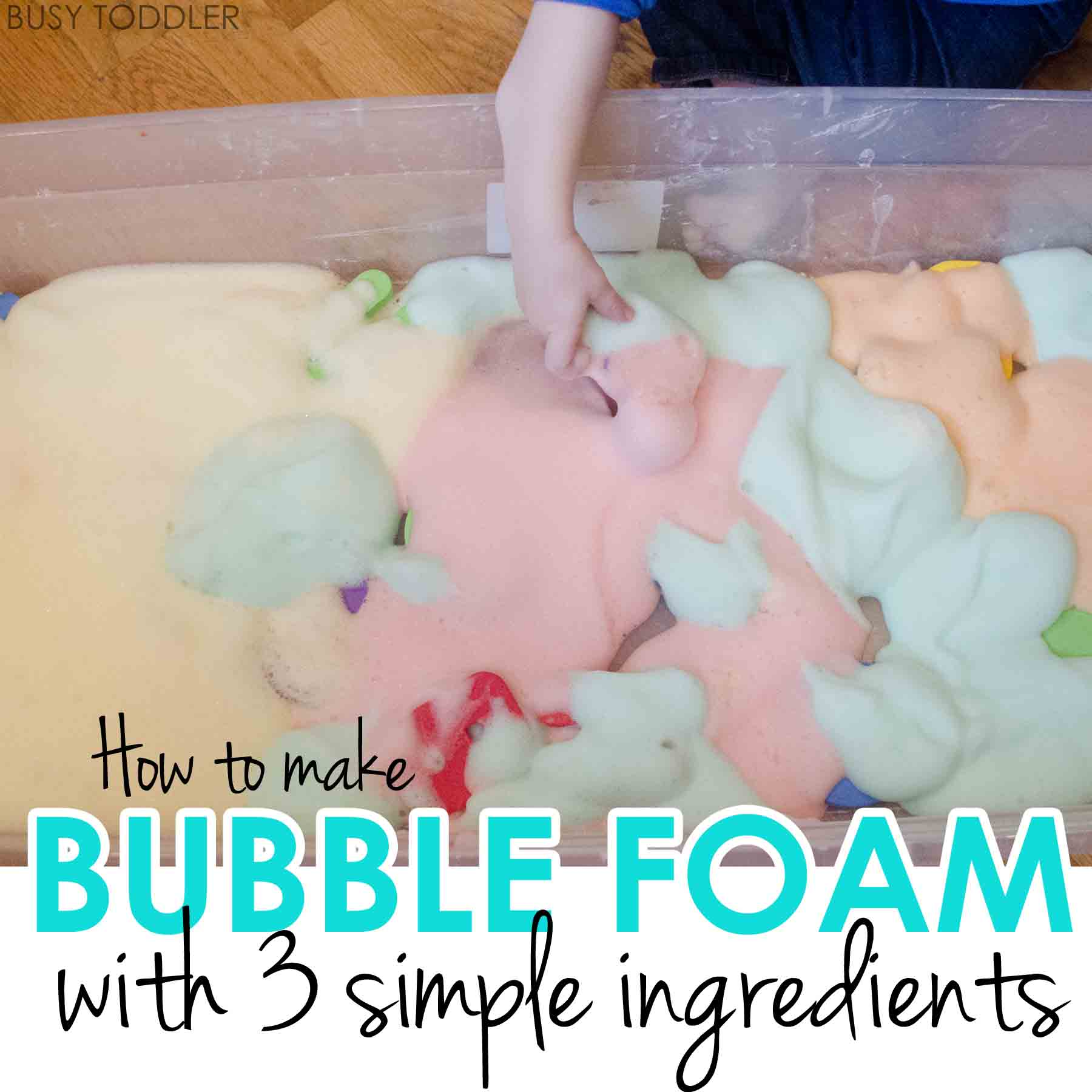 Bubble Foam Sensory Activity - Busy Toddler