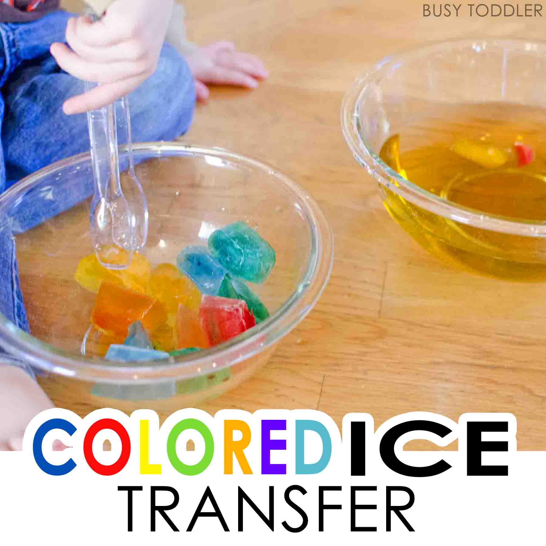 Colored Ice Transfer Activity