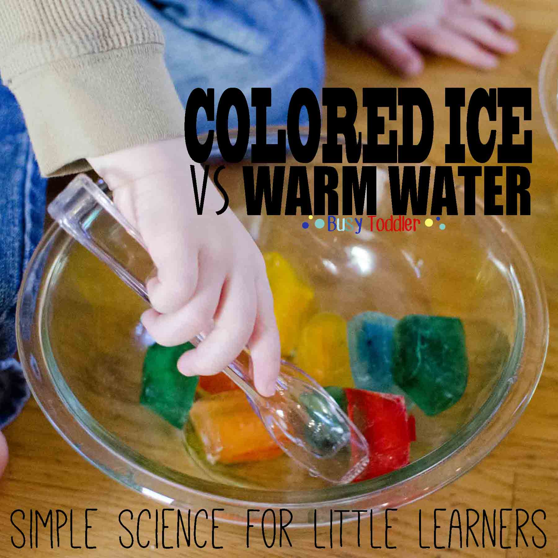 Colored Ice Transfer: simple science for little learners.