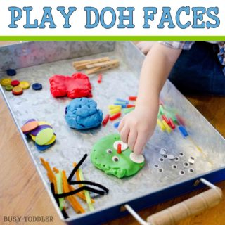Play-Doh Faces Invitation to Play