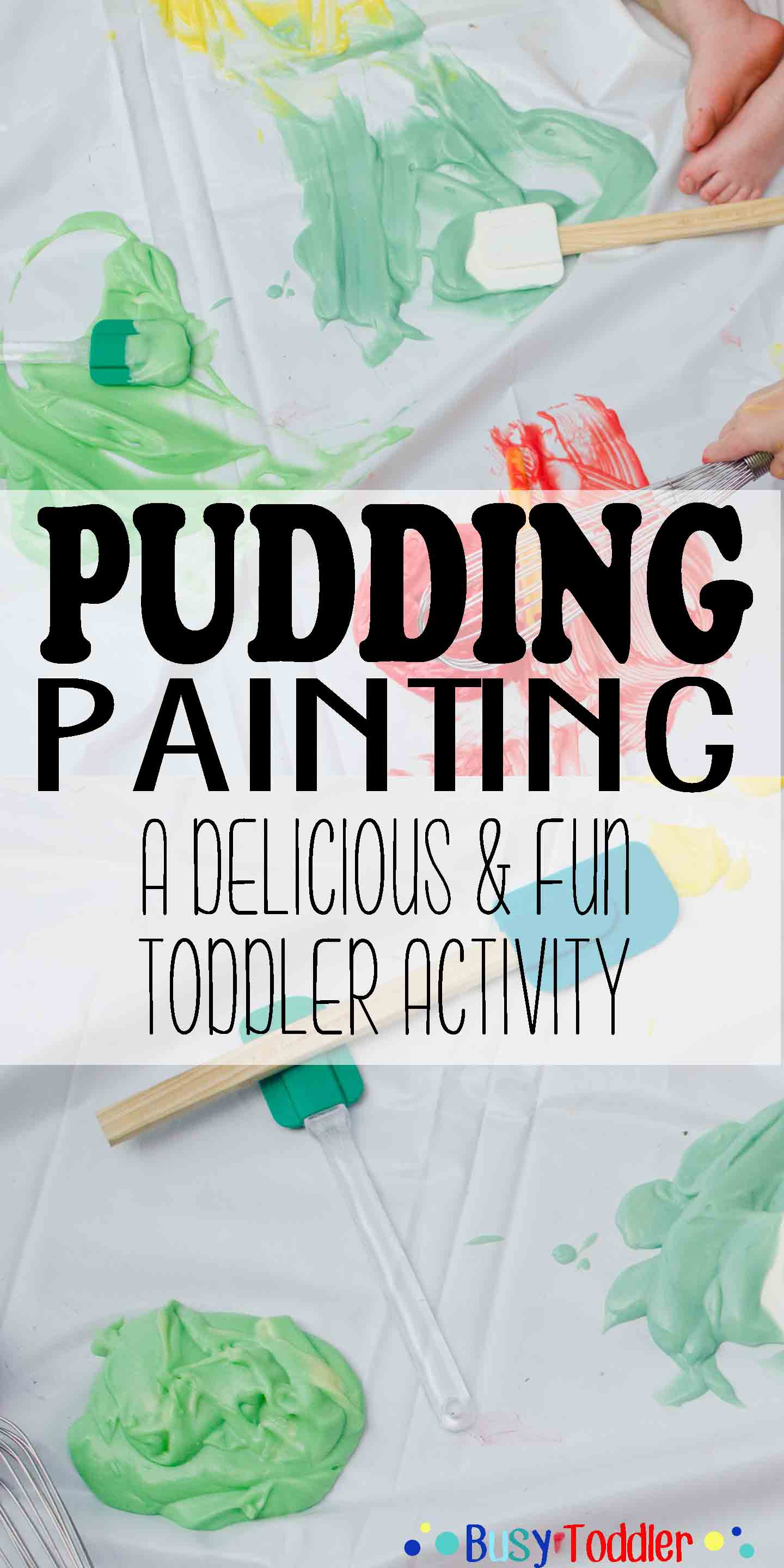 PUDDING PAINTING: A delicious and fun toddler activity