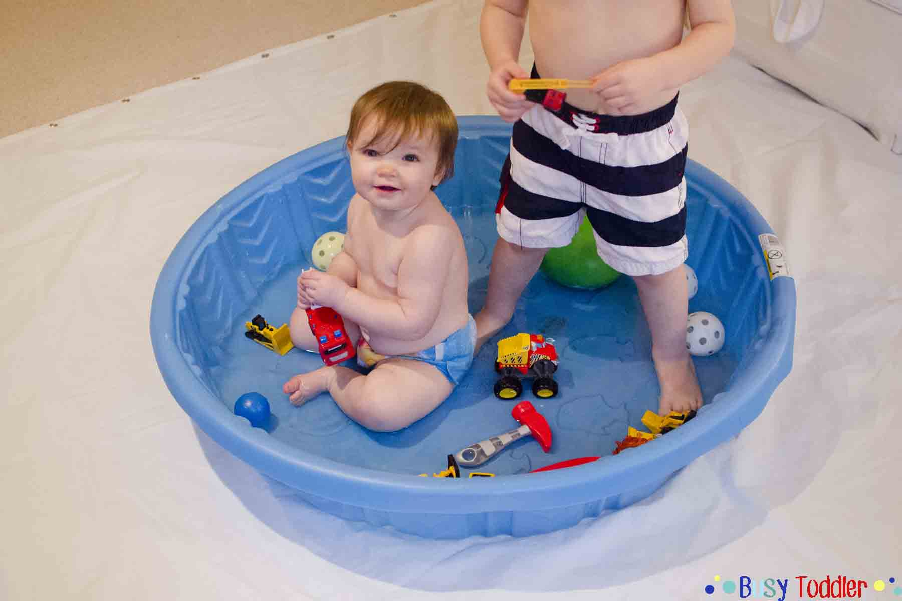 INDOOR POOL: A silly and fun winter toddler activity