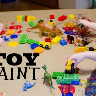 Toy Paint: Messy Art Activity