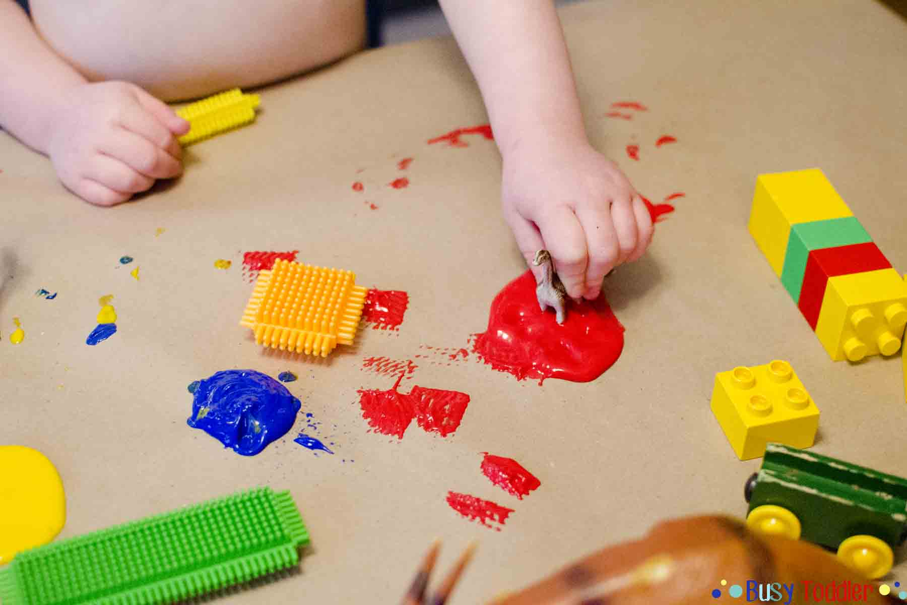 TOY PAINT: a silly fun toddler activity with paint