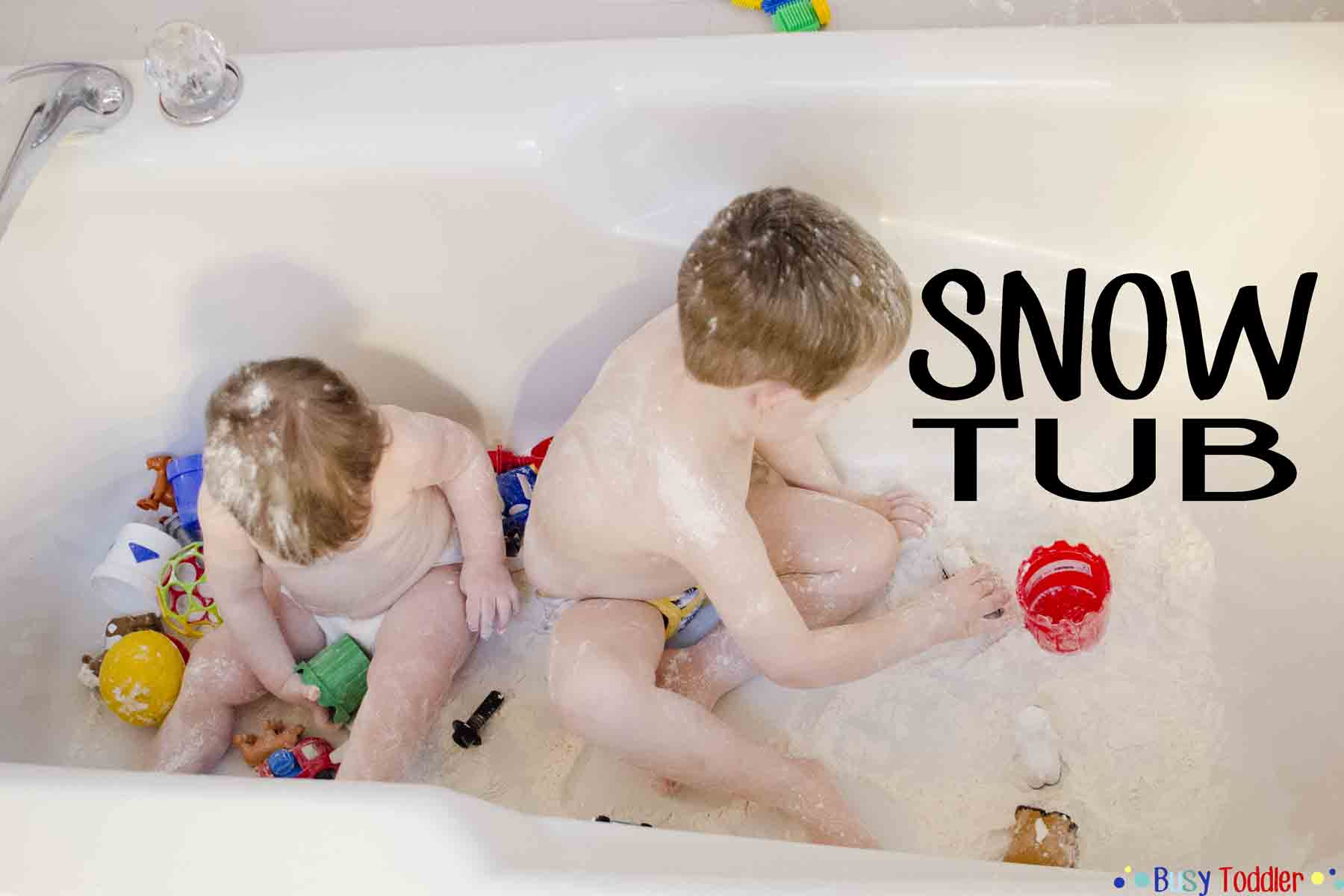 Snow Tub Bath Time Activity